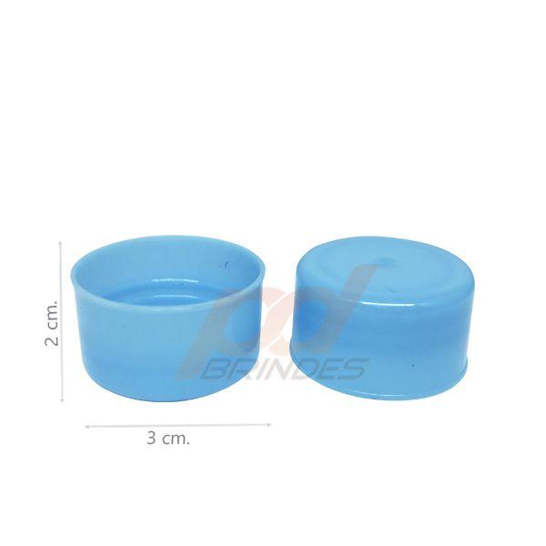Tampas para Tubete e Garrafas Azul - Kit 200 peças