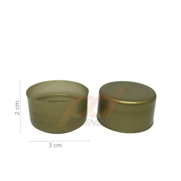 Tampas para Tubete e Garrafas Douradas - Kit 200 peças