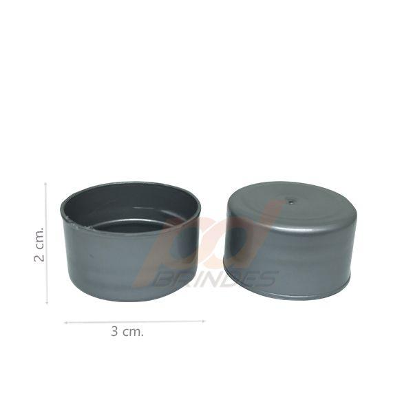 Tampas para Tubete e Garrafas prata - Kit 50 peças