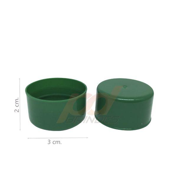 Tampas para Tubete e Garrafas Verde - Kit 200 peças