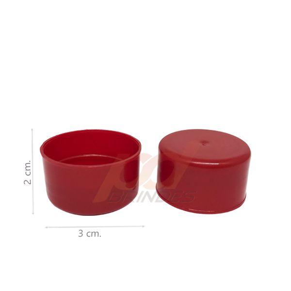 Tampas para Tubete e Garrafas Vermelho - Kit 50 peças