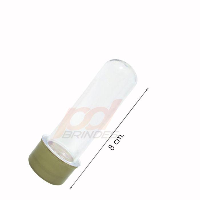 Tubetes 08 cm - Tampa Dourado - Kit 050 peças