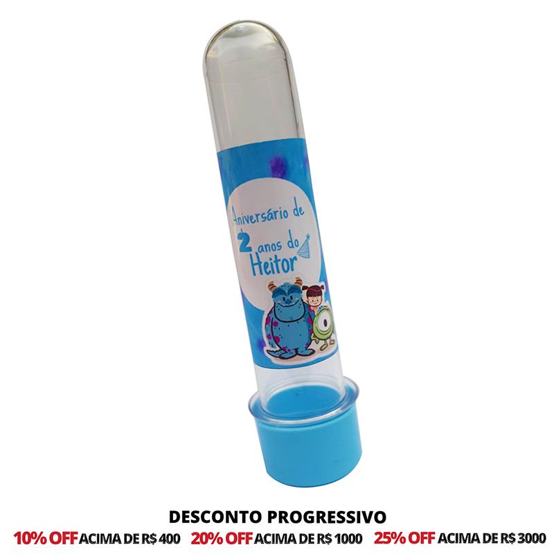 Tubetes 13 cm Personalizados - 50 Unidades