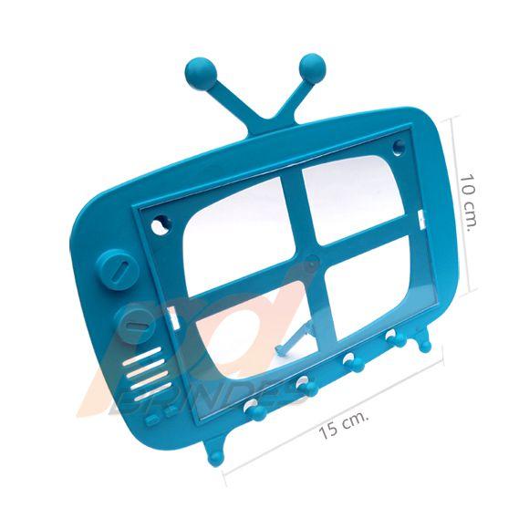 TV Retro 2 em 1 Azul - Kit 120 peças