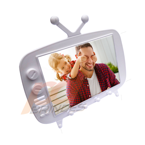 TV Retro 2 em 1 Branco - Kit 10 Unidades