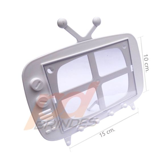 TV Retro 2 em 1 Branco - Kit 120 peças