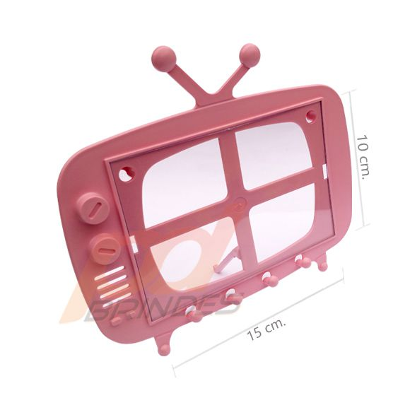 TV Retro 2 em 1 Rosa - Kit 120 peças