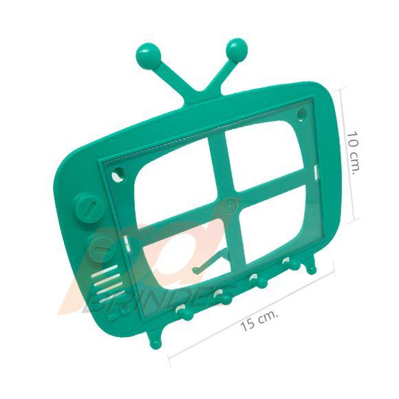 TV Retro 2 em 1 Verde - Kit 120 peças