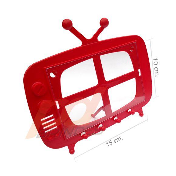 TV Retro 2 em 1 Vermelho - Kit 120 peças