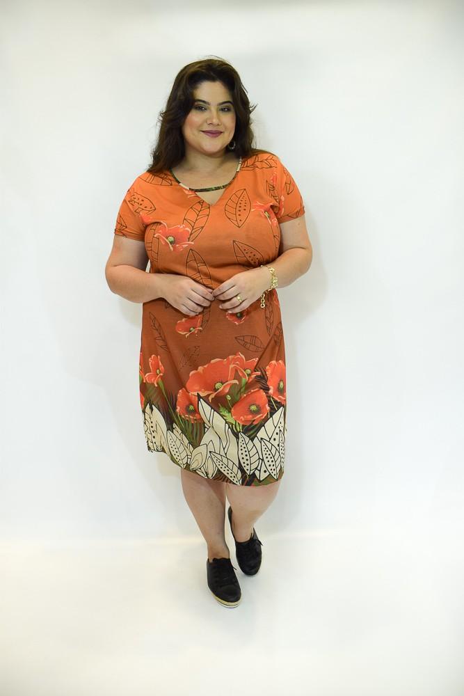 Vestido sublimado midi