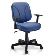 Cadeira Diretor Giratória Operativa Com Relax Lâmina e Braço T - Azul/Preto