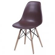 Cadeira Eames Dkr Polipropileno Base Madeira Cafe