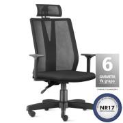 Cadeira Giratória Ergonômica HomeOffice Presidente Telada Addit