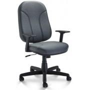 Cadeira Presidente Operativa, Braço Regulável Revestimento Tecido Preto