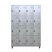 Roupeiro De Aço Com 16 Portas Pequenas Com Pitão e Pés Em Nylon