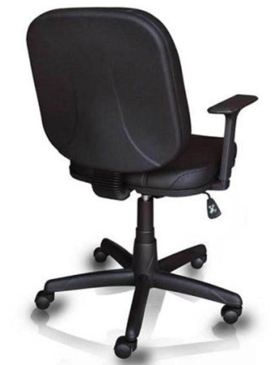 Cadeira Diretor OPERATIVA COM LÂMINA E RELAX BRACO T PRETO  REVESTIMENTO AZUL/PRETO