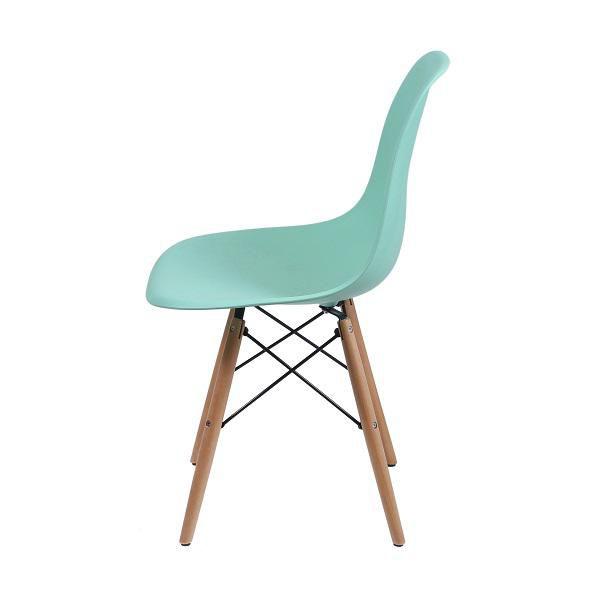 Cadeira Eames Dkr Polipropileno Base Madeira Tiffany