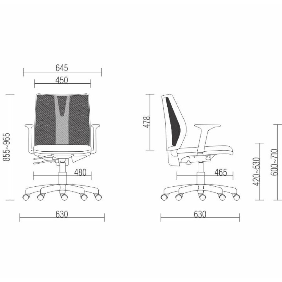 Cadeira Giratória Ergonômica Escritório Executiva Telada Addit
