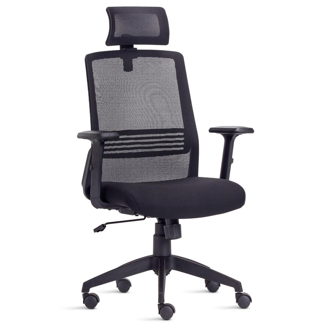 Cadeira Presidente em Tela com Apoio De Cabeça