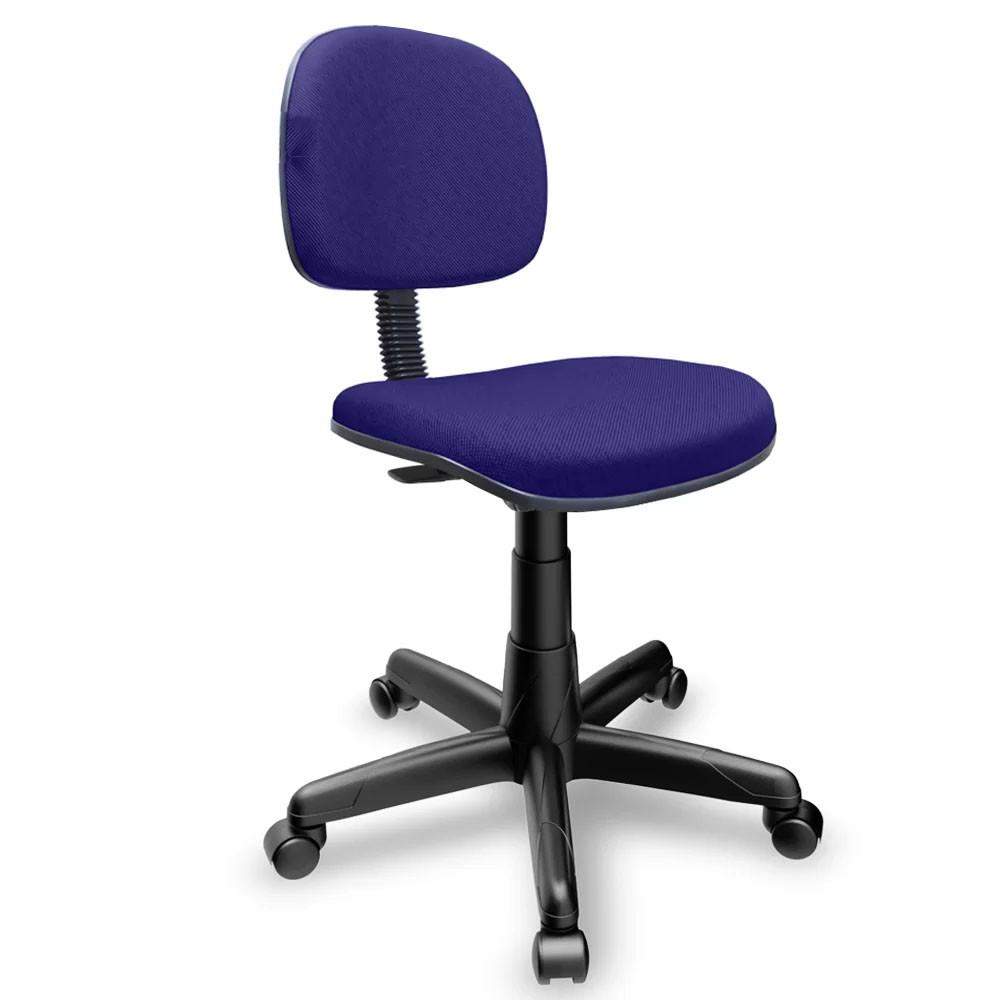 Cadeira Secretária Giratória para Escritório Azul/Preto