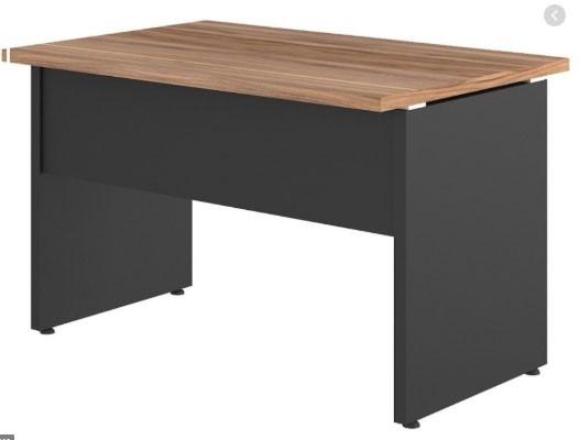Mesa Reta para Escritório 120x60 Pe Painel Tampo 30mm - Calvi/Preto
