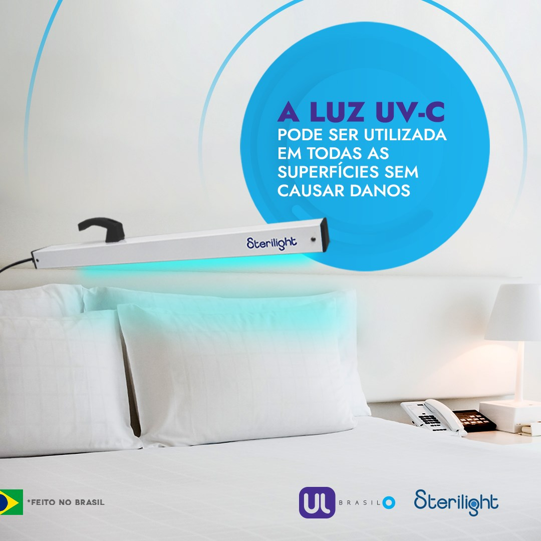 Lampada Esterilizadora Raios UV-C Hand Contra Vírus e Bactérias