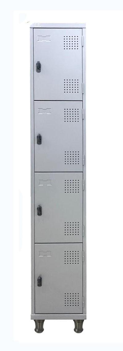Roupeiro De Aço Com 04 Portas Com Pitão e Pés Em Nylon