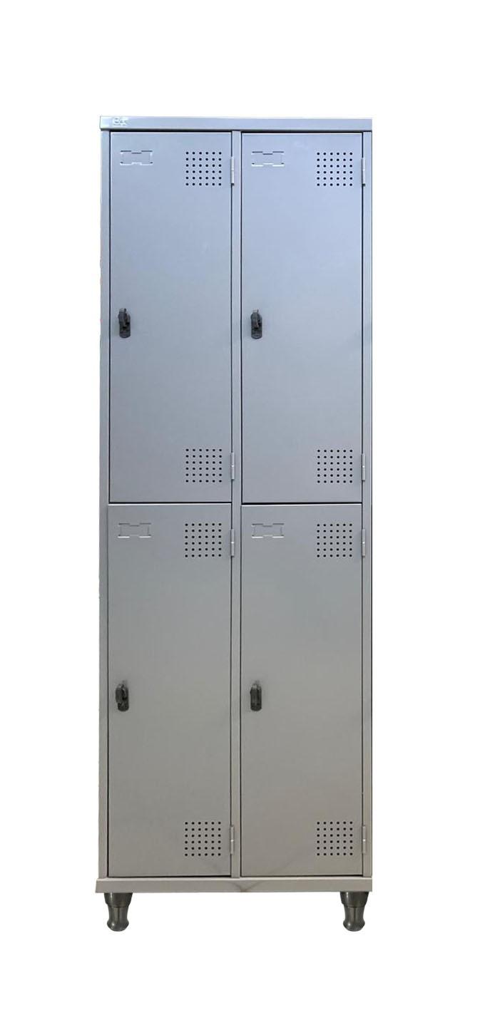 Roupeiro De Aço Com 04 Portas Grande Com Pitão e Pés Em Nylon