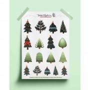 Adesivo árvore de natal luxo