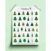 Adesivo árvores de Natal