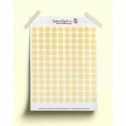 Adesivo bolinhas coloridas - amarela