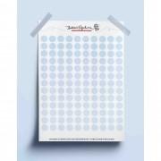 Adesivo bolinhas coloridas - azul