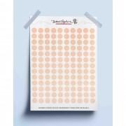 Adesivo bolinhas coloridas - laranja