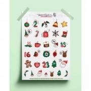 Adesivo calendário natalino 01