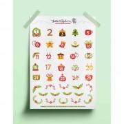 Adesivo calendário natalino 03