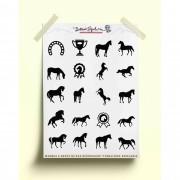 Adesivo cavalos