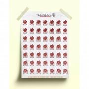 Adesivo envelope de amor