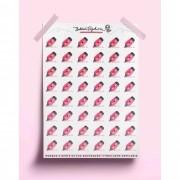 Adesivo marca texto - rosa