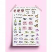 Adesivo para planner - ícones variados 02