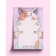 Bloco anotações - gatinho fofo