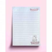 Bloco anotações - lute como uma garota