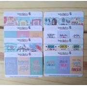 Kit frases variadas - 8 mini cartelas