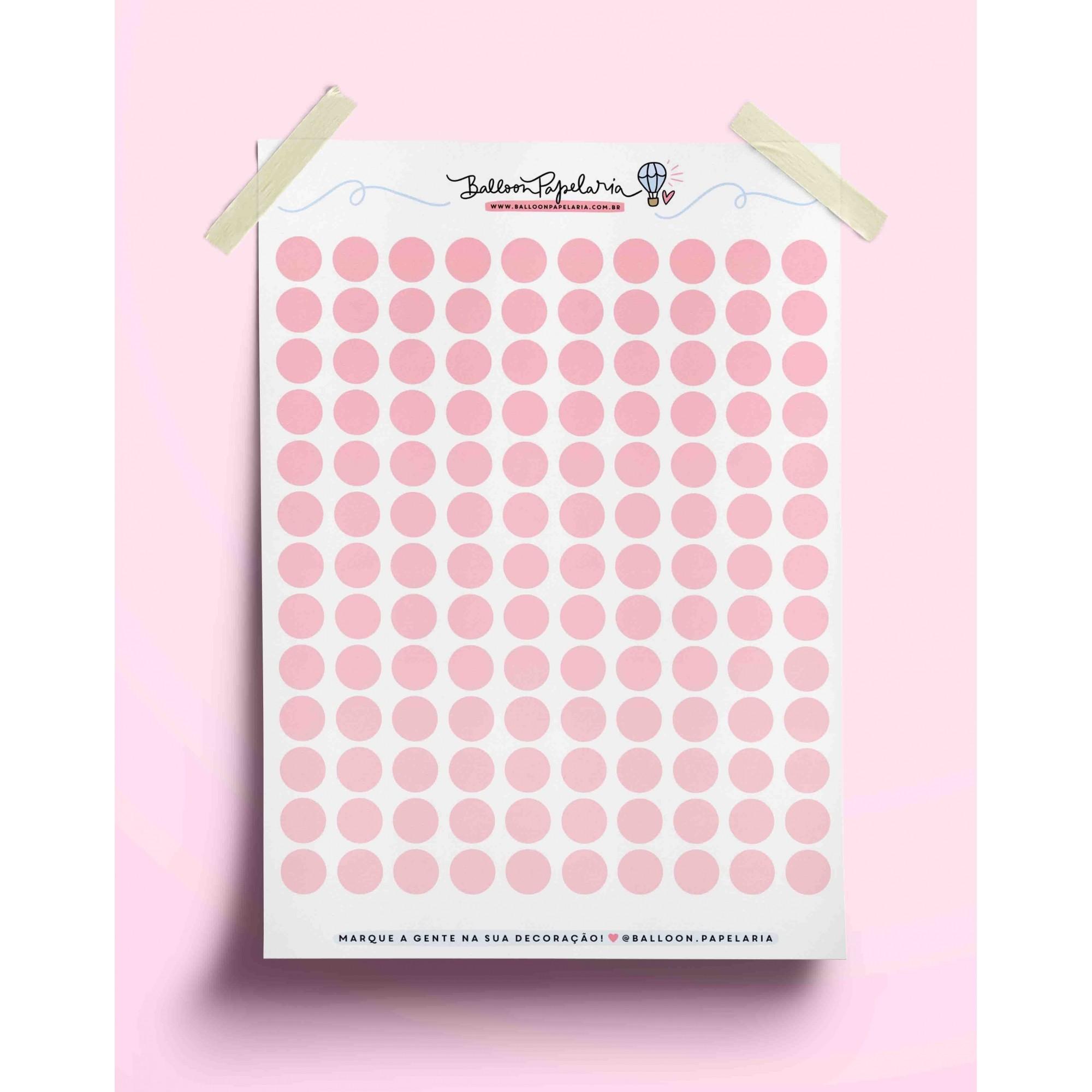 Adesivo bolinhas coloridas - rosa