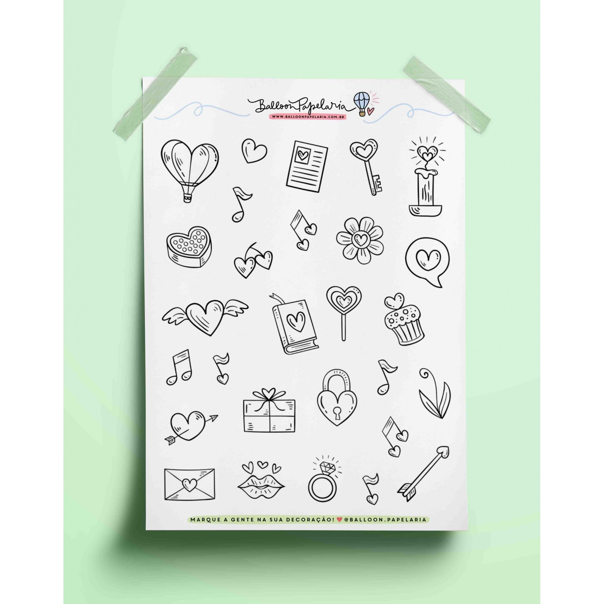 Adesivo doodles love 01