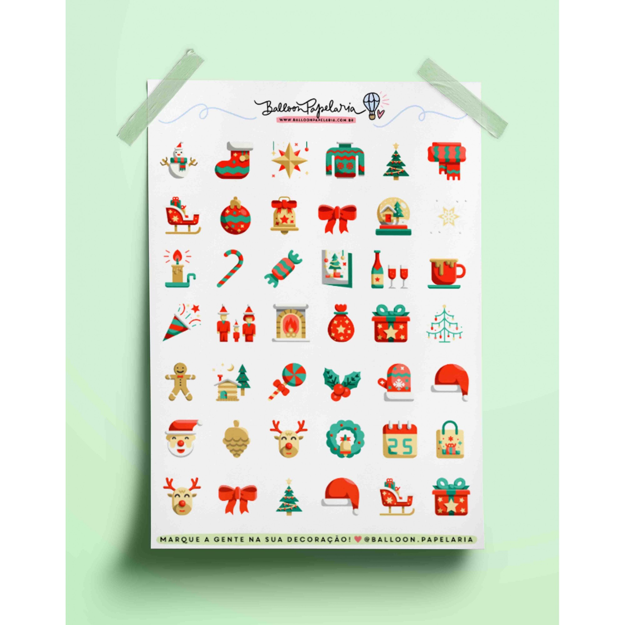 Adesivo feliz natal 01