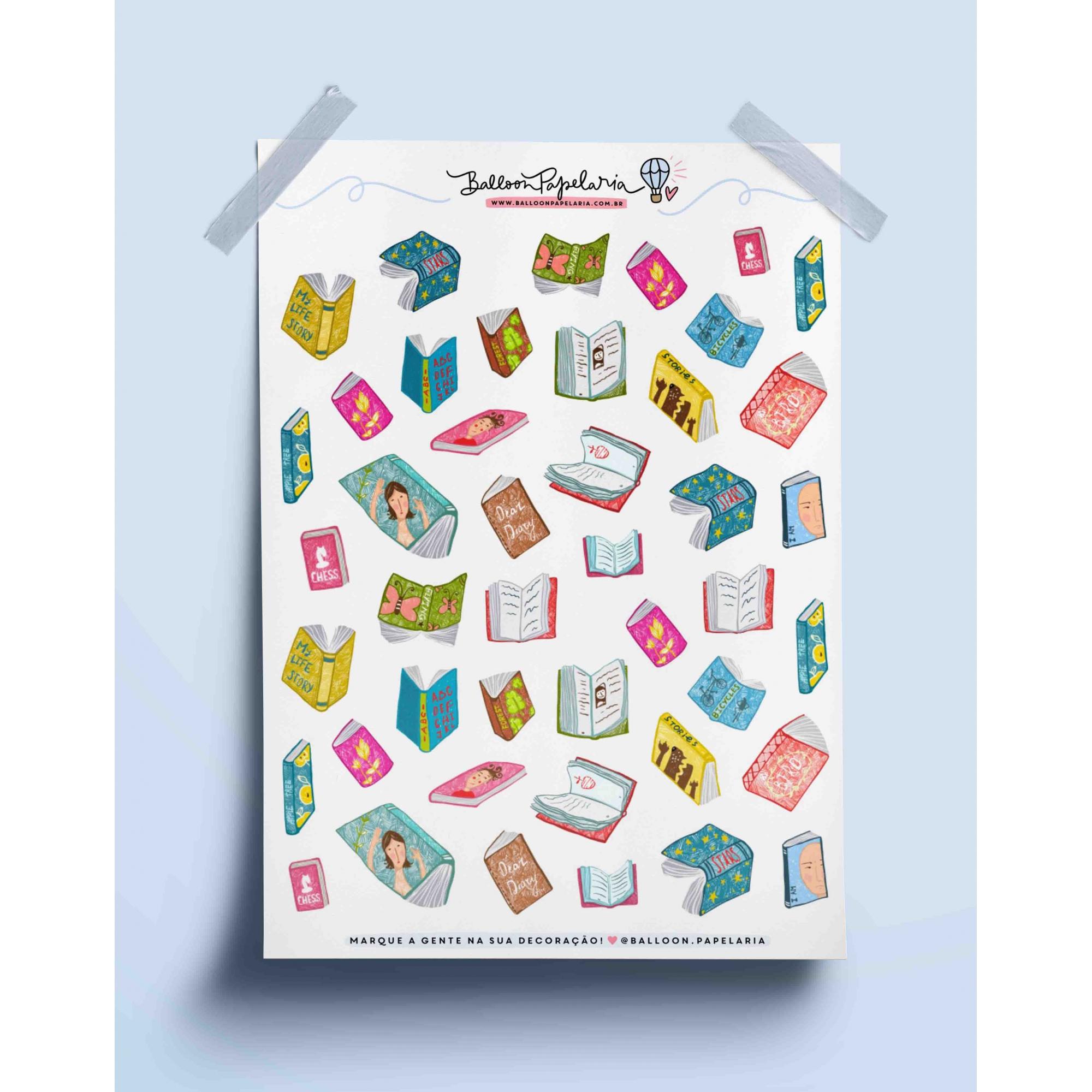 Adesivo livros