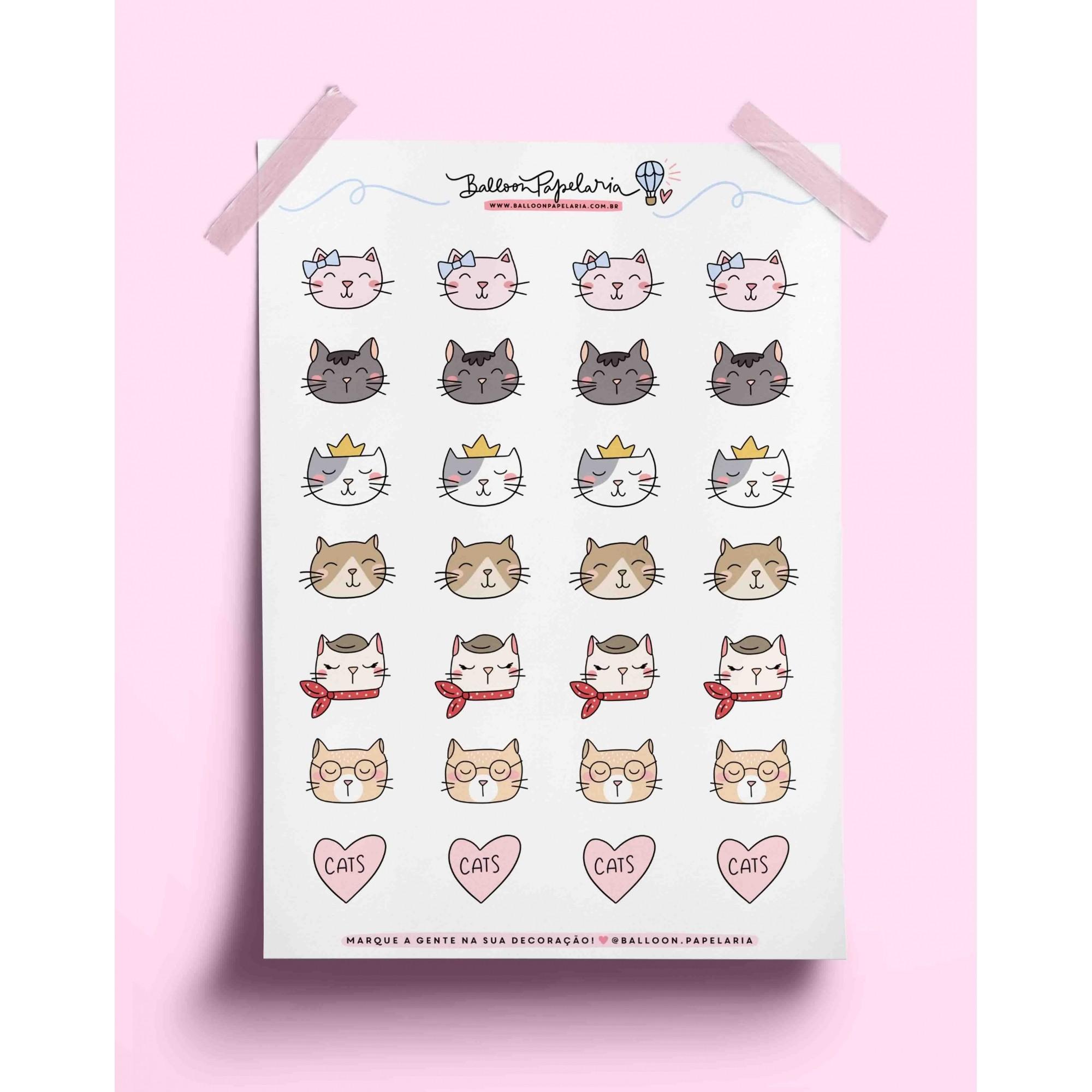 Adesivos gatinhos descolados