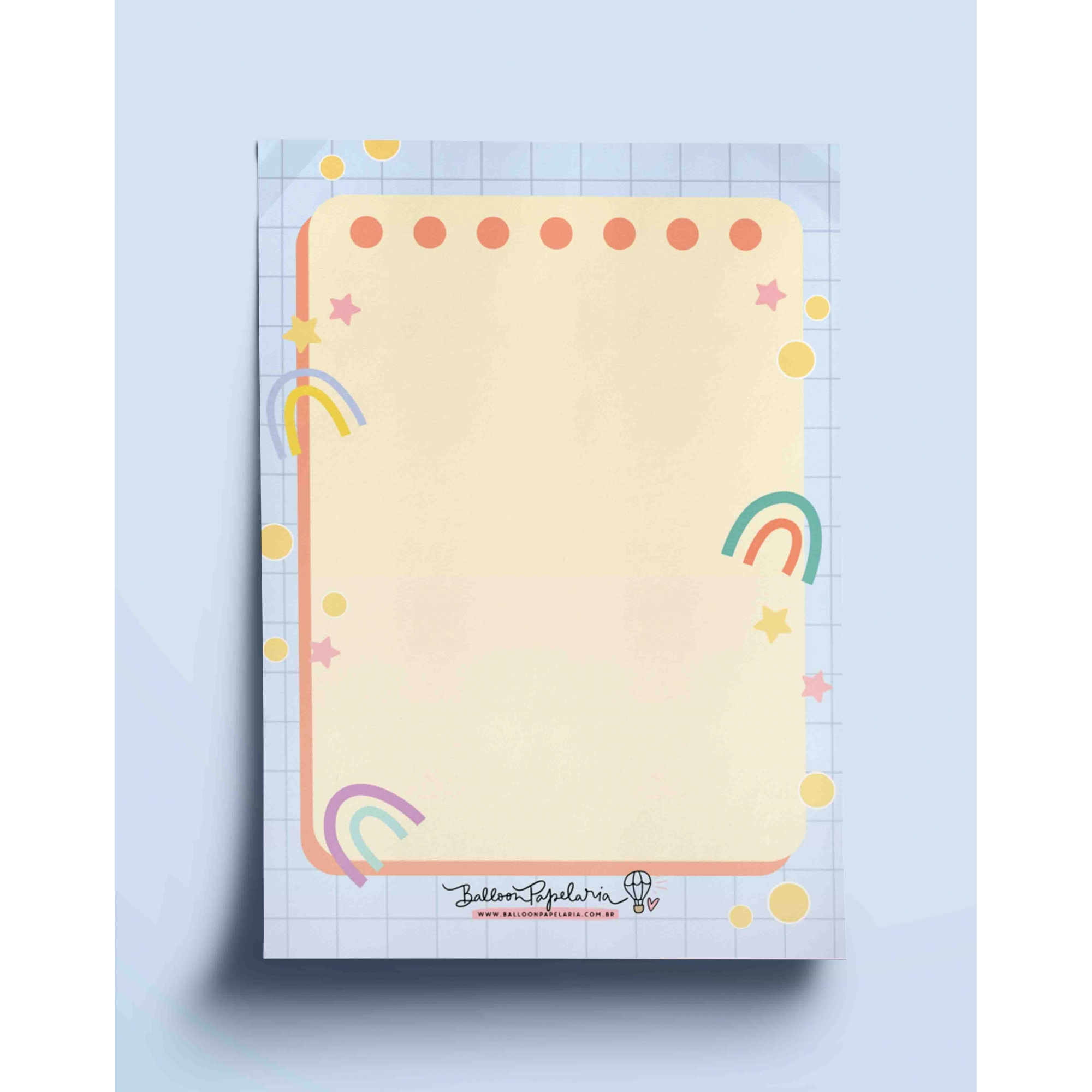 Bloco anotações - arco íris