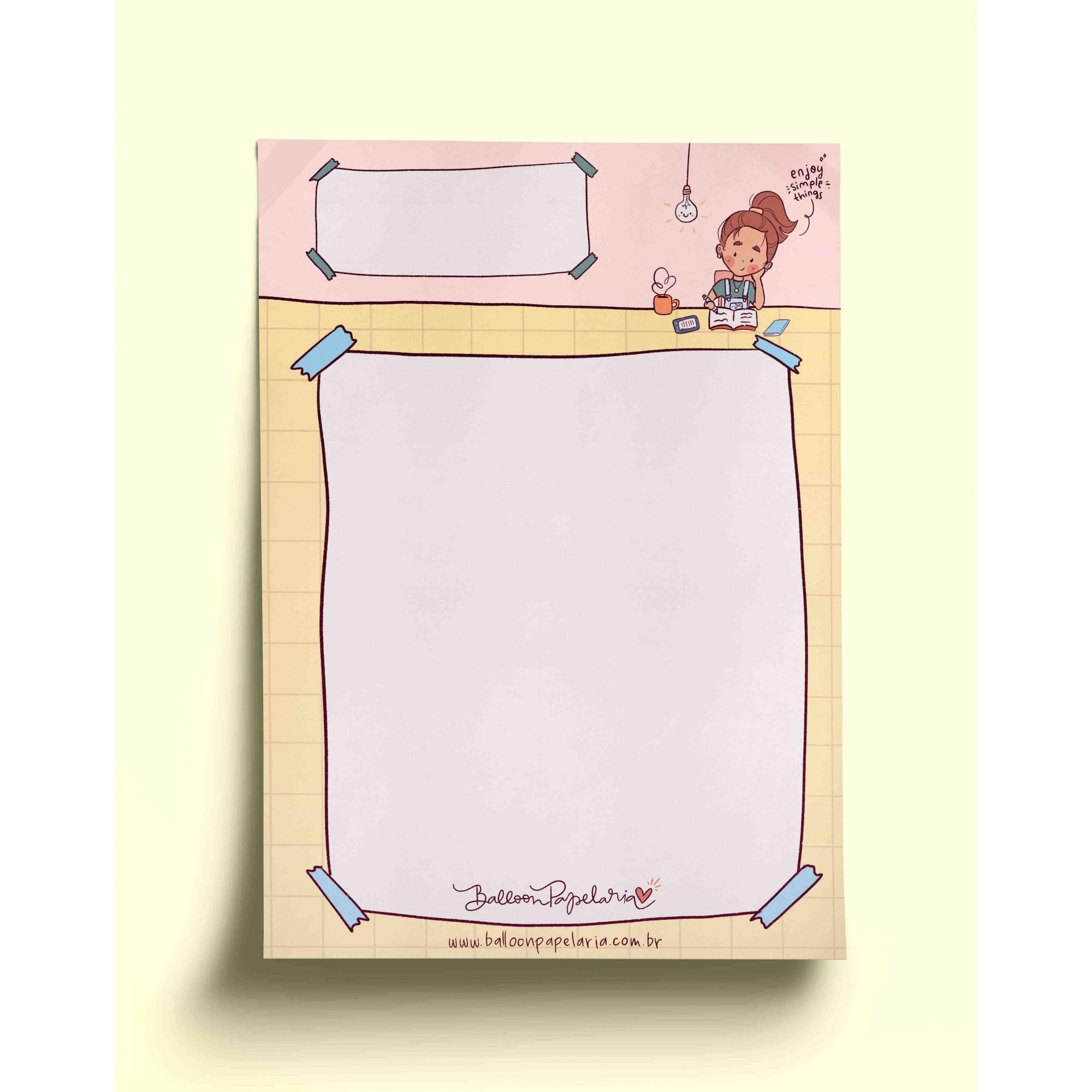 Bloco anotações - enjoy simple things