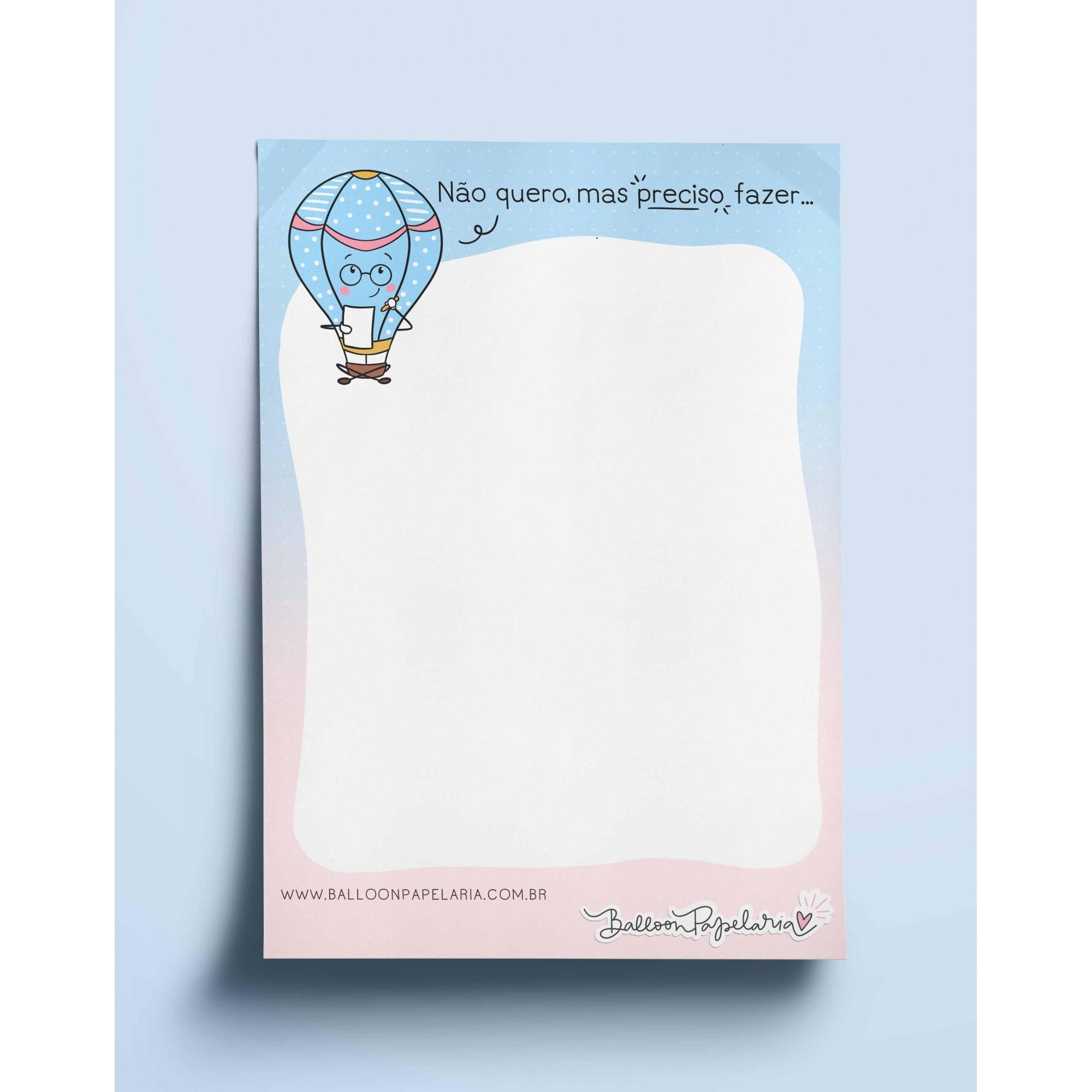 Bloco anotações - não quero mas preciso fazer...